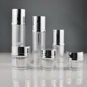 Глянцевая серебристая акриловый крем для бритья Jar для расширительного бачка Косметики (PPC - НОВЫЕ-100)
