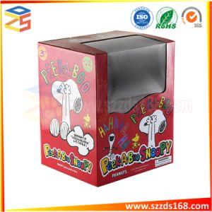 Brinquedo coloridos de embalagens de papel ondulado com Limpar janelas de PVC/Pet