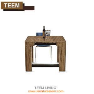 Современные выдвигаемая обеденный стол из закаленного стекла