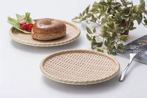 Comme la plaque en bois de mélamine/plaque de Sushi/plaque Rectangle (NK13713-08)