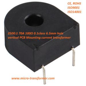 2500: 1 70A 100ohm 0.1calss Vertical PCB Montagem Transformador de Corrente Zmct116W