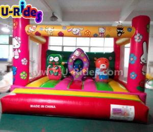 Cheap mini rosa caricatura gorila inflable castillo saltar rebotar casa en venta