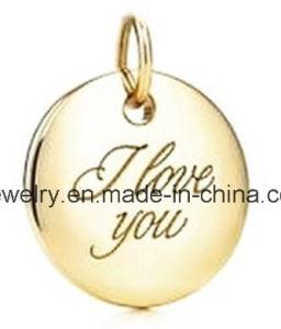 Juwelen 925 van de douane de Echte Zilveren Charme van de Gravure