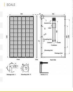 Pid Free Mono Solar PV Module 290W Qualidade alemã
