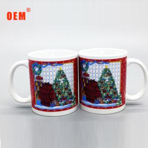 Bajo precio en línea recta Costom 11oz taza Mug de Navidad de regalo