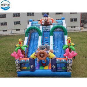 Bonito tema de los océanos inflables personalizado a los niños/Diapositiva Diapositiva inflable para la venta