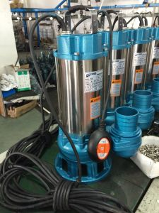 Acero inoxidable bomba sumergible de aguas residuales, bomba de agua, bomba de agua sucia