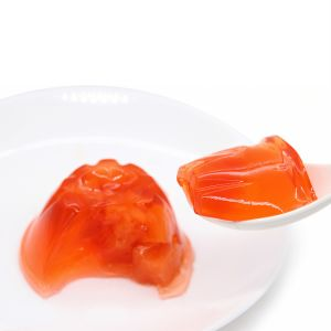 Tazas de gelatina de sabor a fruta