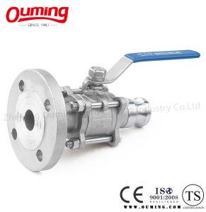 Valvola a sfera rapida dell'accoppiamento della flangia dell'acciaio inossidabile (PN16)