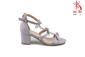 La flanelle colorés de l'été 2018 Mesdames Femmes sandale (HSA2018005)