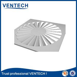 A cor branca Square difusor de ar da borboleta de turbulência para uso de ventilação