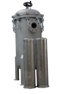 La caja del cartucho de filtro de la unidad múltiple