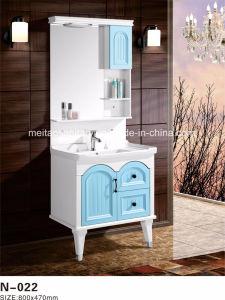 O PVC moderno mobiliário de armário de toucador, casa de banho com chão de cortesia