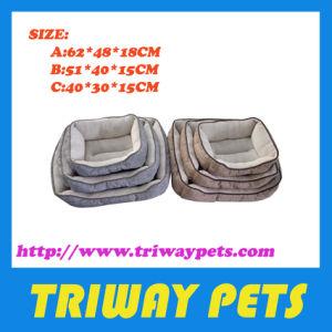 Cama de cão de tecido impresso do aprovisionamento em produtos de cão (WY1711003-1)