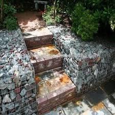 Residencial decorativas Praça soldado de malha de arame galvanizado Gabião Box