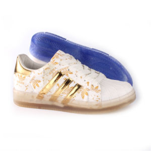 Chaussures femmes Mode Loisirs confort chaussures à semelle transparent (SNC-64013)