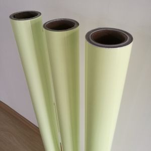 暗いフィルムの緑の白熱