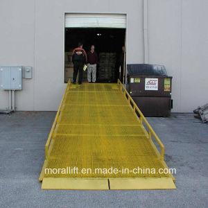 10T móvel hidráulico para o recipiente da plataforma de carga