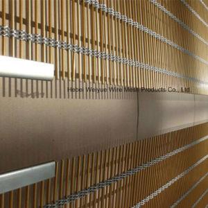 Декоративные ткани проволочной сетки для внутренних дел Декор окна