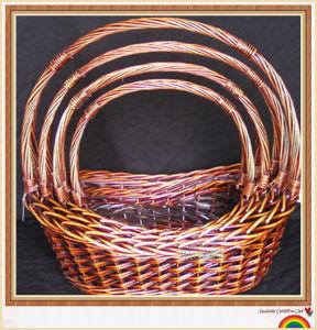 O Vime Willow Jardim de vime cestas de flores de armazenamento