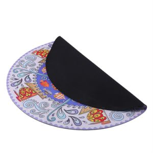 Stuoia di gomma di yoga di meditazione della pelle scamosciata rotonda di Minnee