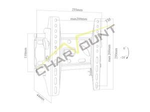 17  - 42 를 위한 텔레비젼 벽 마운트 부류, 공장 공급 조정가능한 고도 텔레비젼 부류 (CT-PLB-E501)