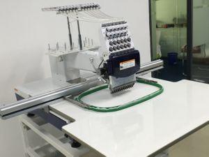 単一大きい刺繍領域Wy1201clの平たい箱/Tシャツのためのヘッドによってコンピュータ化される刺繍機械