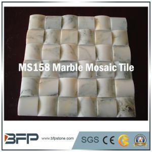 Wit/Groen Marmeren Mozaïek voor de Tegel van de Muur en de Tegel van de Vloer