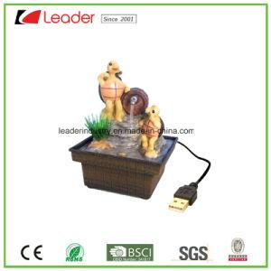 De Beeldjes van de Kikker van de Fontein van het Water van Polyresin met USB voor de Decoratie die van de Lijst worden geladen