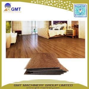 Tablón de madera PVC plástico PVC hojas cubiertas de piso de mosaico de línea de producción