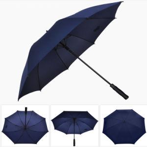 Geschäfts-Golf-Regenschirm mit gerader Griff-starkem haltbarem Sonnenschutz-Regenschirm