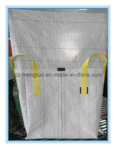 Esquina de la cruz de tipo C FIBC gran bolsa con la boca de llenado a granel