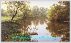 Olieverfschilderij, het Olieverfschilderij van het Landschap, Olie schilderen-1 van het Canvas (V.N.-LAND9505)