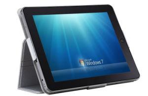 9.7  인텔 원자 SSD 지원 Windows7와 XP를 가진 전기 용량 다 접촉 전시 정제 PC