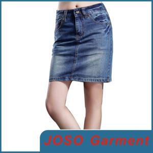 女性の標準的で短いデニムのスカート(JC2027)