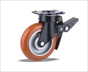 Поворотный самоустанавливающихся колес с полиуретановыми колеса