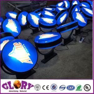 Pubblicità del contenitore chiaro acrilico di casella di illuminazione LED