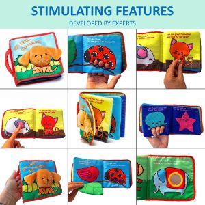 Livro macio tecido bebês brinquedos pano anilha ondulada atividade educativa artesanais