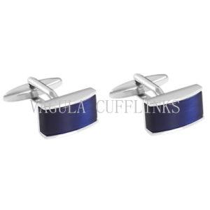 VAGULA Super Qualidade banhada a prata novidade Blue Opal Gemelos alfinetes