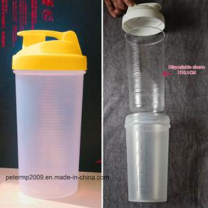 600ml Disposiableの挿入(hnsc001)が付いているプラスチックシェーカー蛋白質の水差し