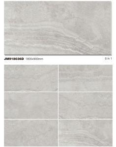 大きいサイズの磁器の大理石によって艶をかけられる床タイル900X1800mm (JM918036D)