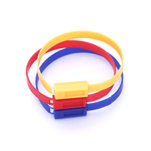 Sellos plásticos de la seguridad de las muestras libres con los números de serie Jy210