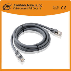 SFTP FTP UTP Cat5e Cable Cable de red con conector RJ45 en color gris