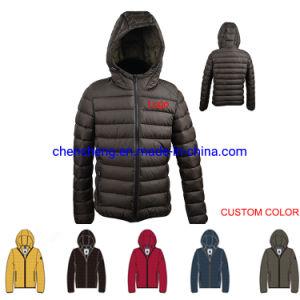 La coutume de gros chaud occasionnel le phoque à capuchon Mens enduire lumière Puffer Down Jacket pour les hommes d'hiver