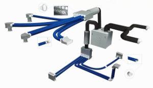 50-200mm PVC/PE/PP Tubo ondulado de doble pared de la línea de producción de doble pared corrugado máquina para fabricar tuberías de ventilación del tubo del sistema de ventilación de la línea de producción