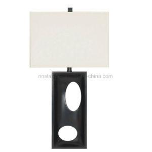 Простой стиль пластмассовый материал ткань тени декоративных кровать настольные лампы