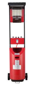Aquecedor a gás de infravermelhos para interiores e exteriores