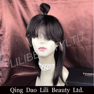 Remy cabelos sedosos Banghai Reta Full Lace Cabelo humano Bob Peruca Cabelo Virgem Humana Lace Peruca Dianteiro