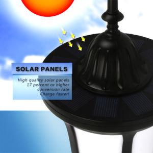LEDのダンスの炎IP65は庭の太陽センサーの壁ライトを防水する