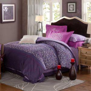 Conjunto de roupa de cama de cor natural macio com materiais 100% algodão